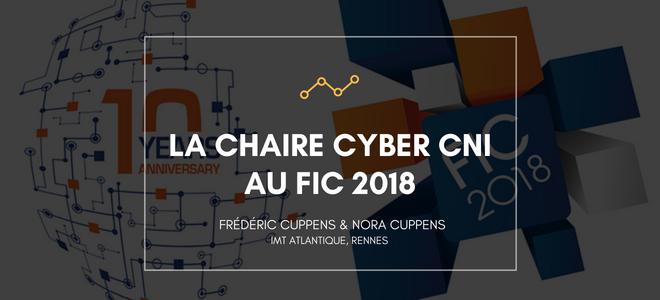 La Chaire Cyber CNI au FIC 2018