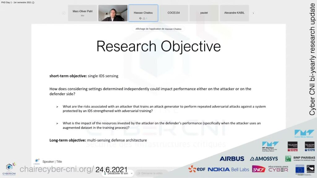 [RU1/21] Hassan CHAITOU, Optimizing security risk learning on data in presence of heterogenity