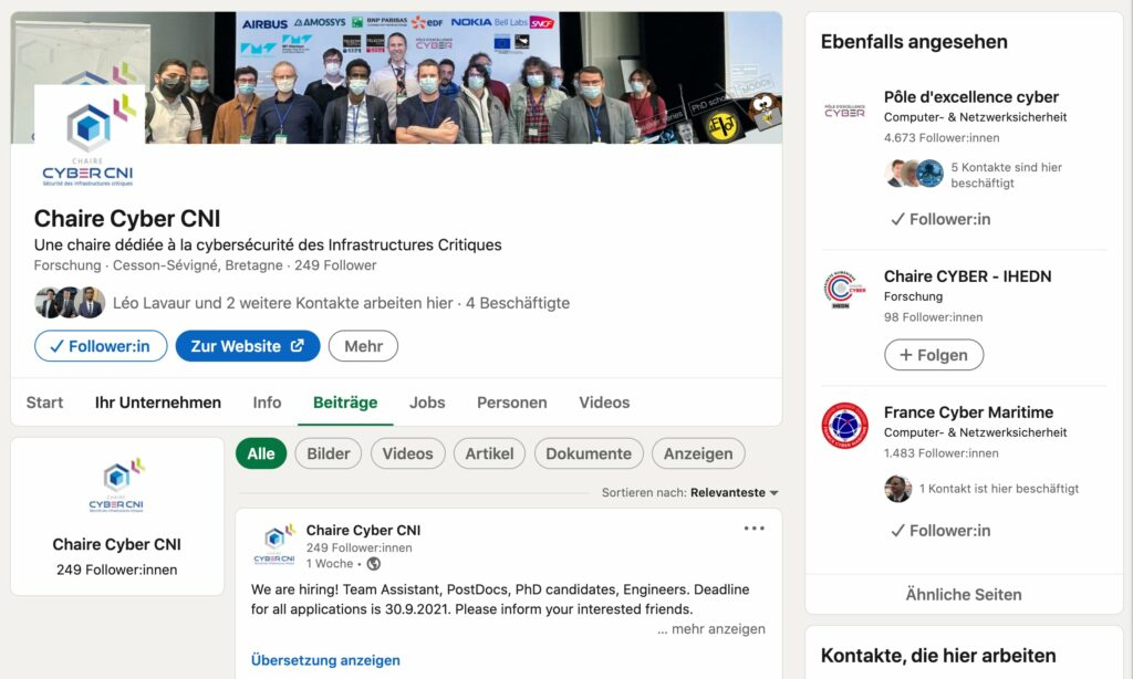 Do you already follow our LinkedIN page?
