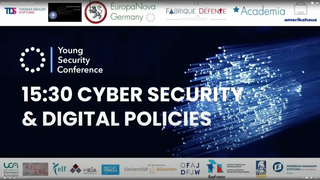 """Young Security Conference 2021 : Panel """"Cyber security & Digital policies"""""""
